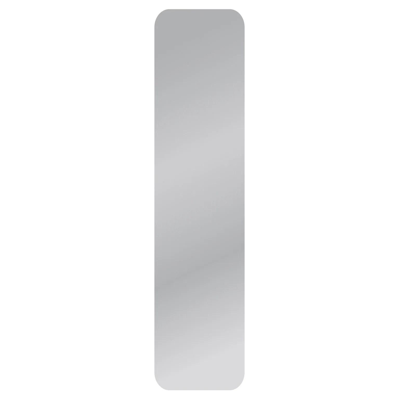 miroir non lumineux decoupe carre avec coins arrondis l 30 x l 125 cm poli