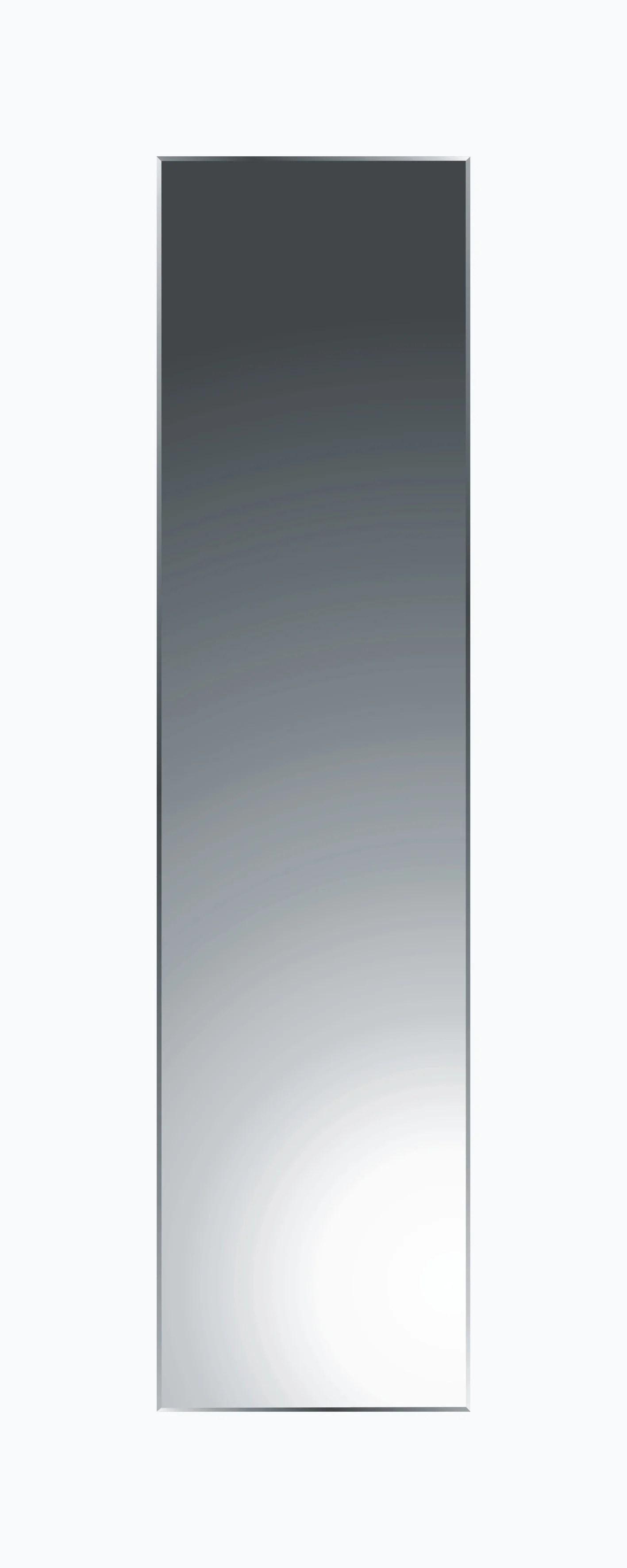 miroir non lumineux decoupe rectangulaire l 30 x l 120 cm biseaute