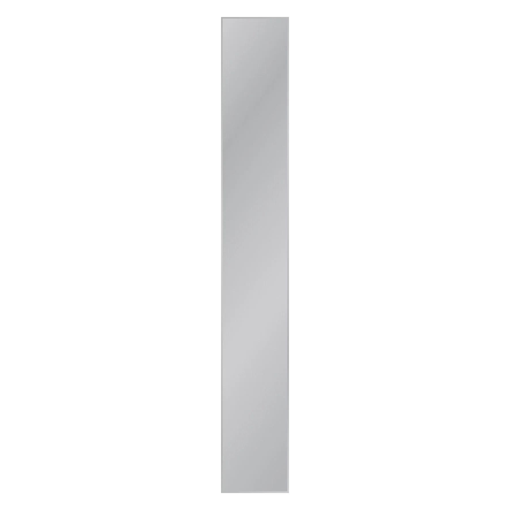 miroir non lumineux decoupe rectangulaire l 20 x l 140 5 cm biseaute