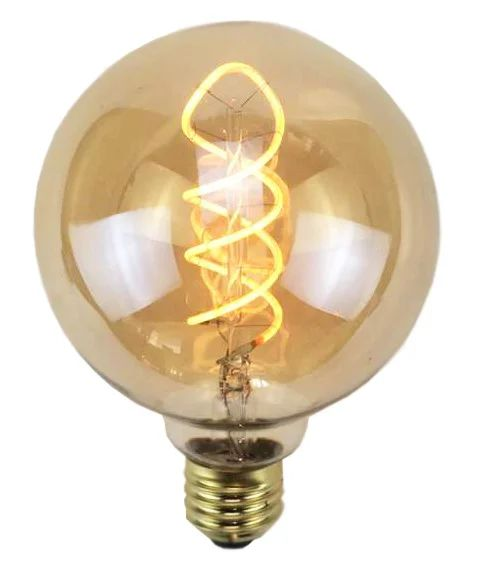 Ampoule Decorative Led Ambre Globe 95mm E27 240lm 35w Blanc Chaud Sampa Helios Leroy Merlin