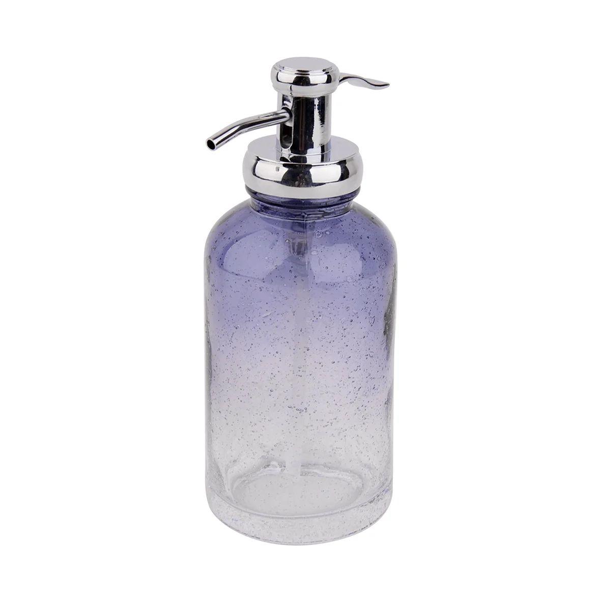 distributeur de savon verre atmosphere bleu