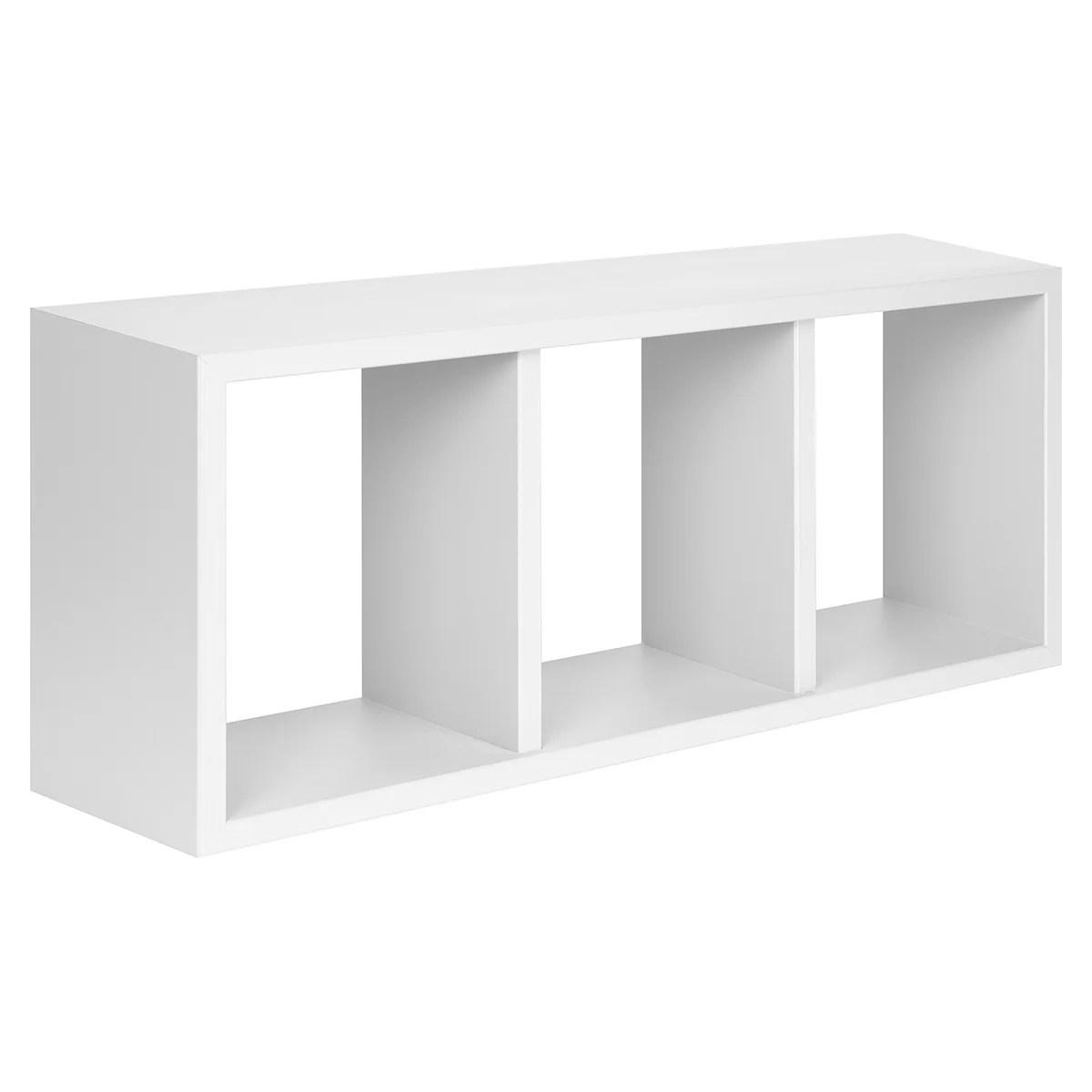 etagere cube triade blanc l 70 x h 30
