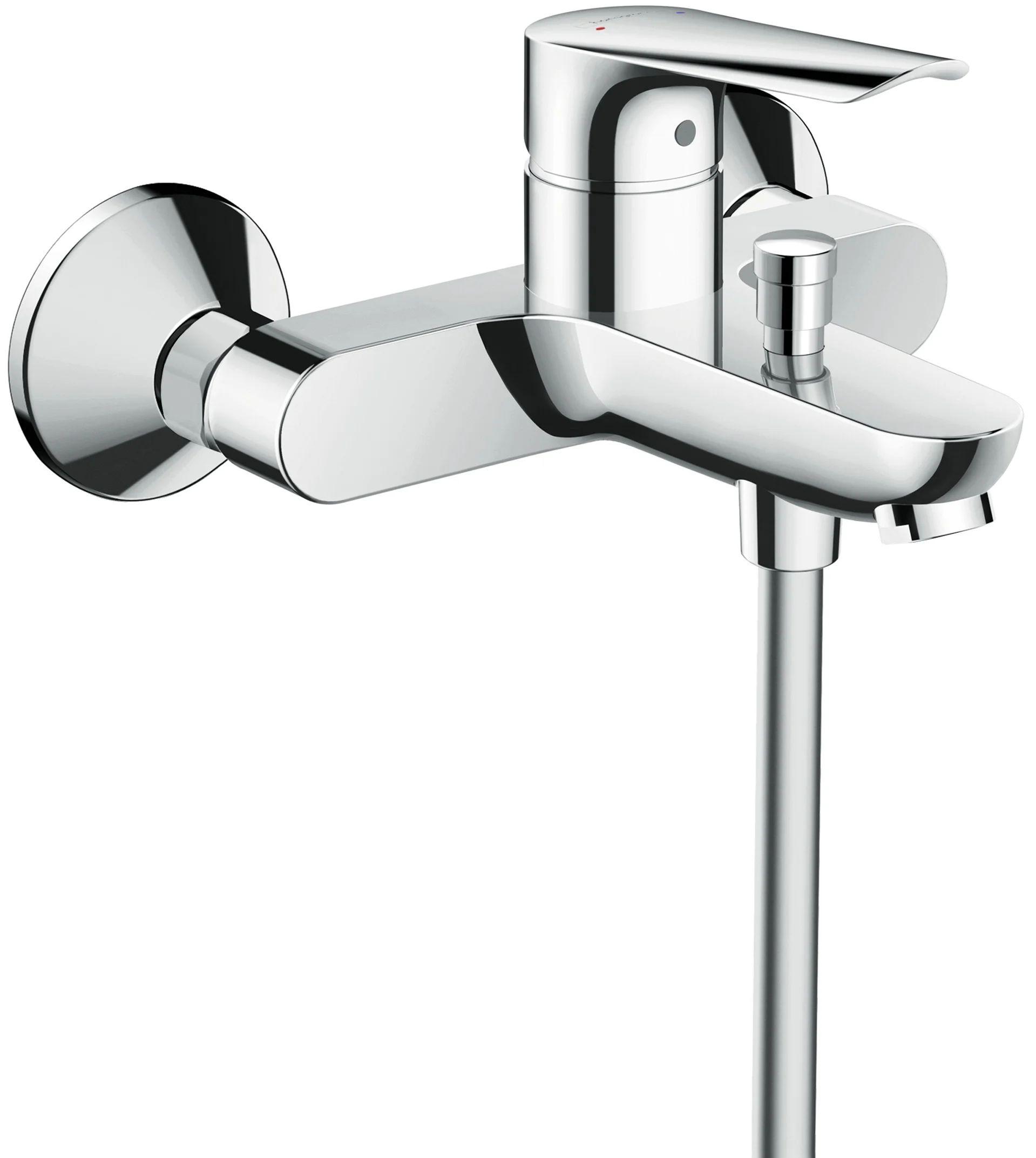 mitigeur mecanique de baignoire chrome brillant hansgrohe logis e