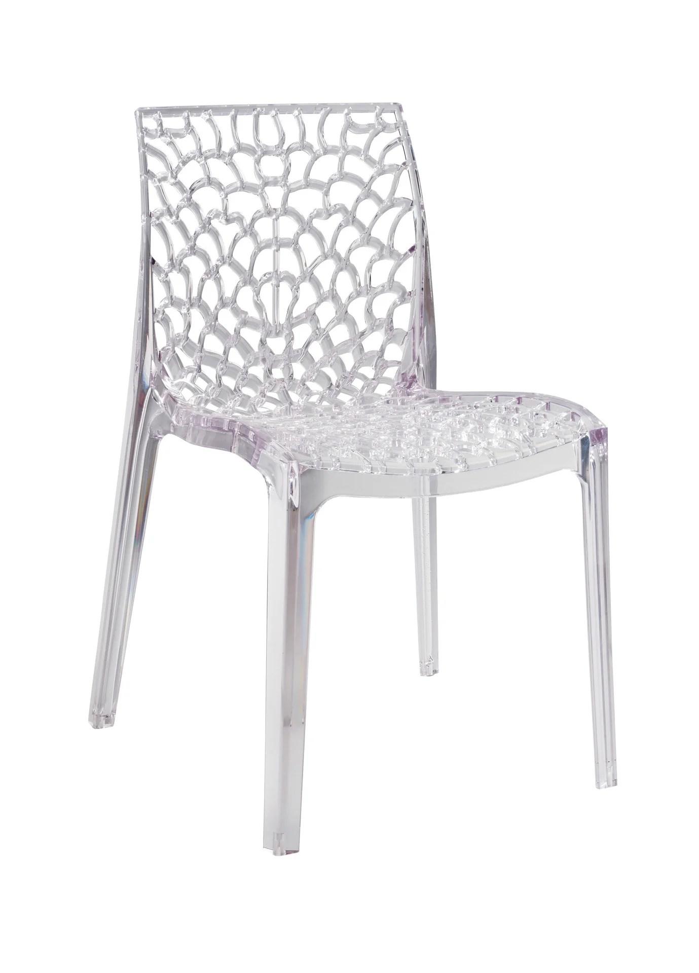 chaise de jardin en polycarbonate grafik transparent