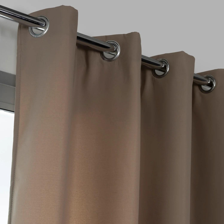 rideau obscurcissant thermique stop froid plus gris fonce l 140 x h 250 cm
