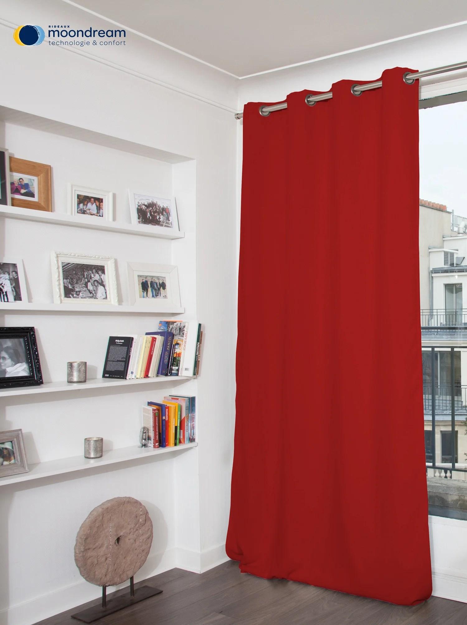 rideau occultant thermique rouge l 145 x h 260 cm moondream