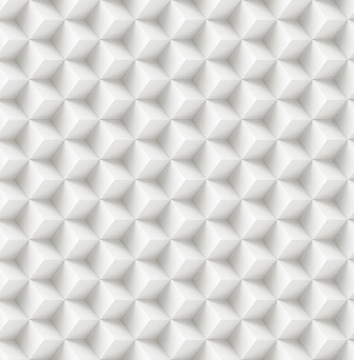 papier peint vinyle 3d carre blanc