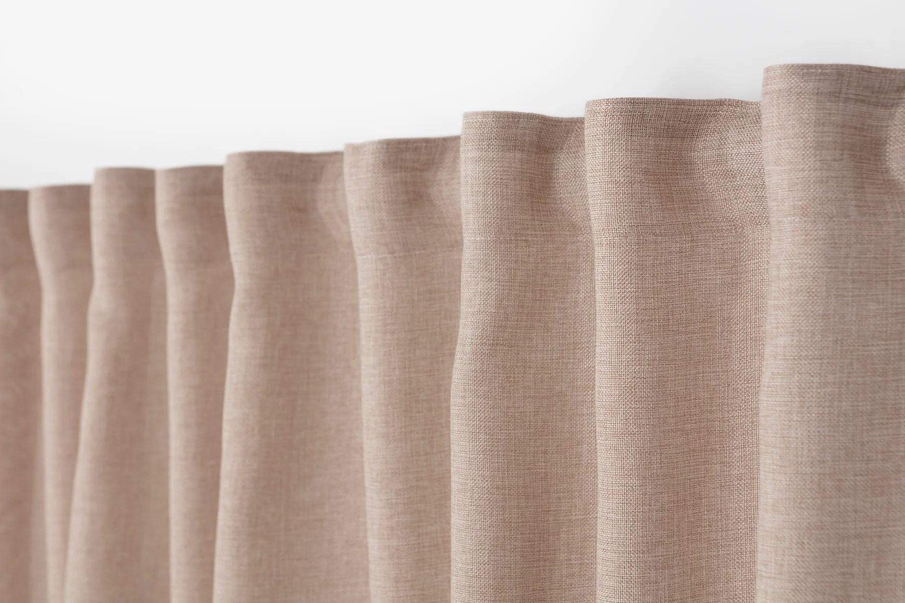 rideau tamisant copenhague ruflette beige l 200 x h 270 cm