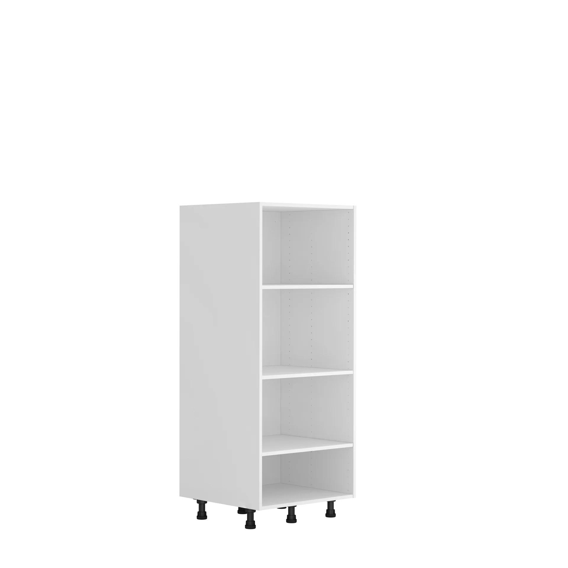 caisson de cuisine demi colonne delinia id blanc h 137 6 x l 60 x p 58 cm