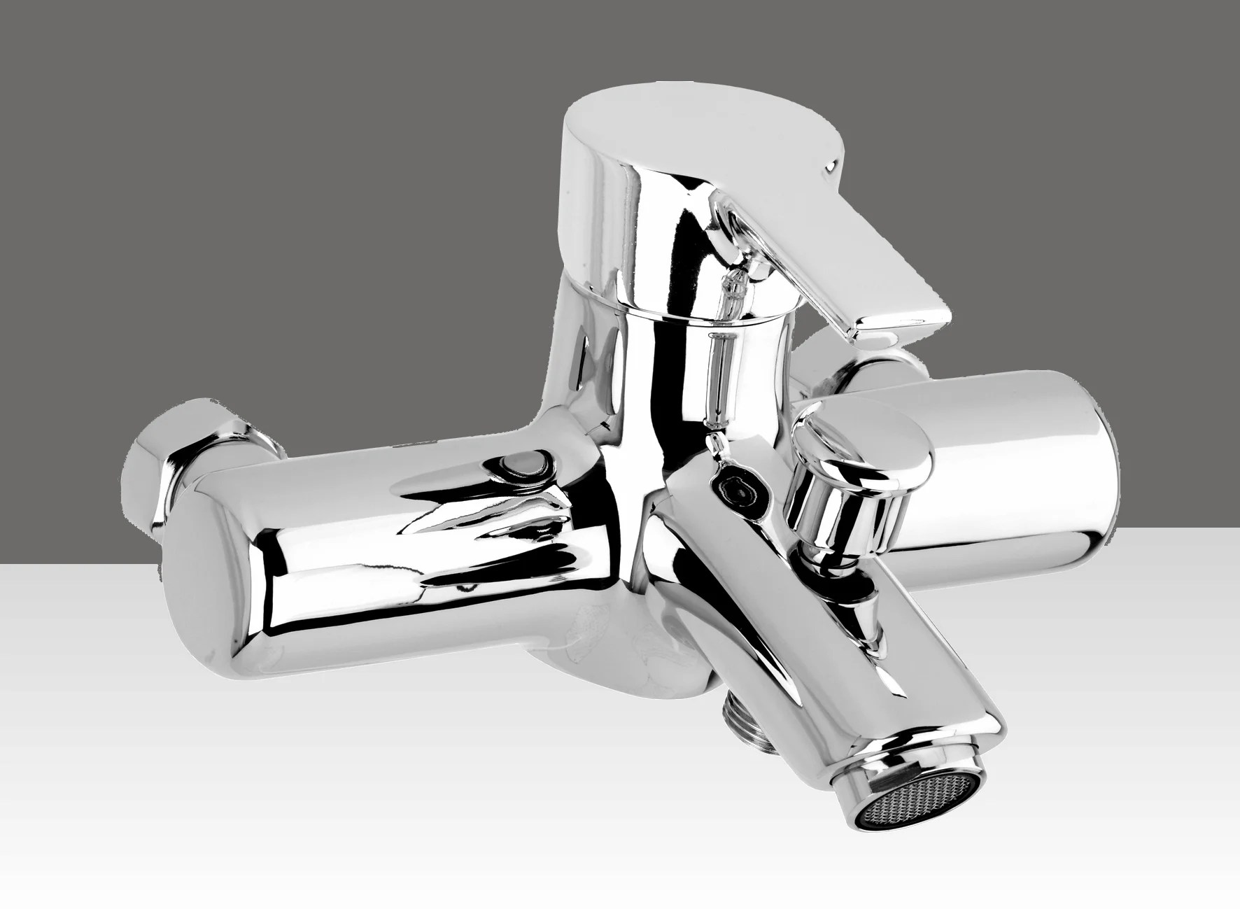 mitigeur mecanique de baignoire chrome brillant kramer oslo