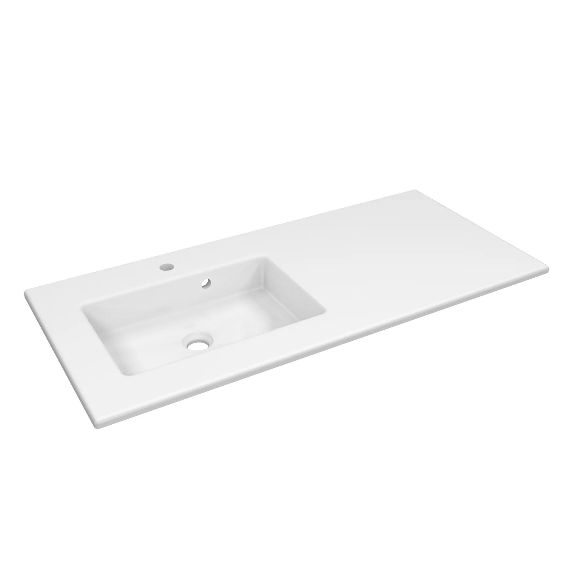 vasque a encastrer ceramique serie max l 71 blanc