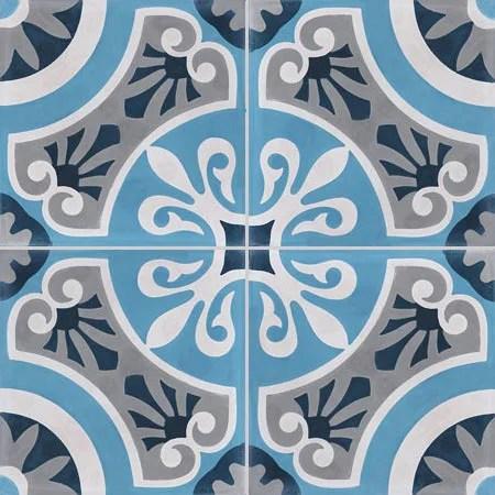 Carreau De Ciment Sol Et Mur Forte Bleu Cercle L 20 X L 20 Cm Leroy Merlin