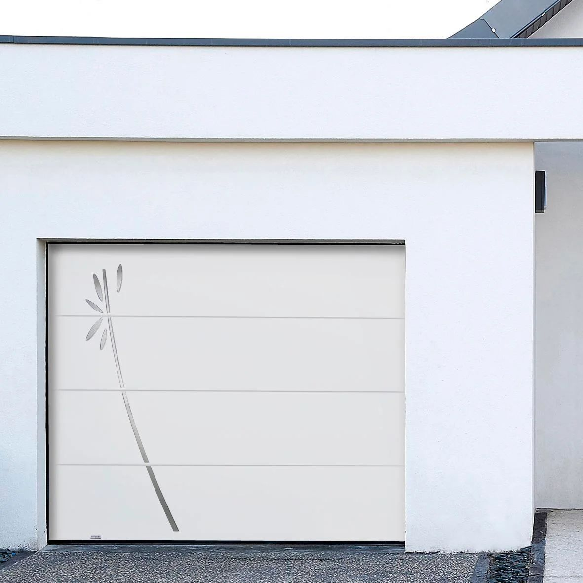 Porte De Garage Sectionnelle Fidis Motorisee H 200 X L 240 Cm Leroy Merlin