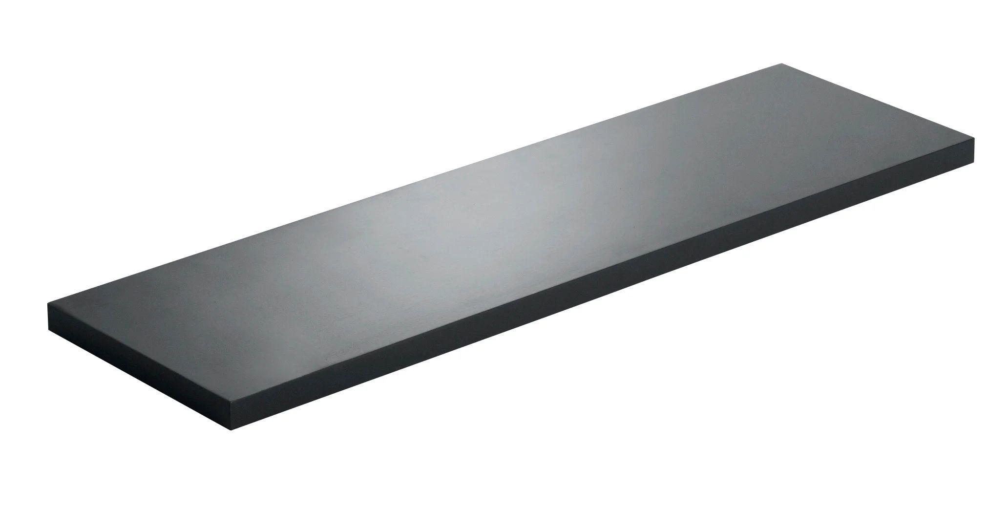 etagere murale noir noir n 0 l 60 x p 18 cm ep 18 mm