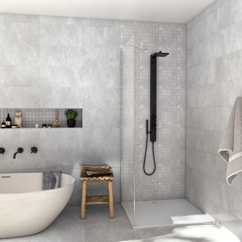 carrelage mur et sol intenso marbre gris mat l 30 x l 60 cm rialto