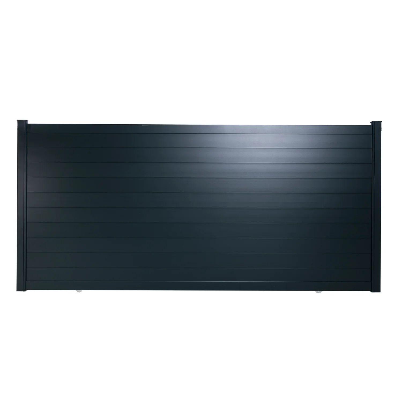 Portail Coulissant Aluminium Lao Gris Zinc Naterial L 312 X H 170 5 Cm Leroy Merlin
