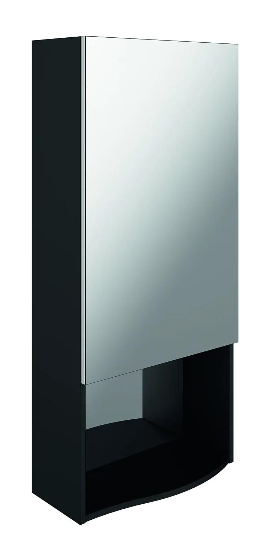 meuble haut egerie l 50 x h 110 x p 20 cm noir egerie