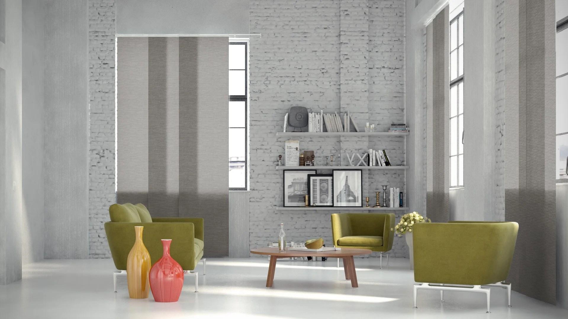 panneau japonais bambou gris h 250 x l 50 cm