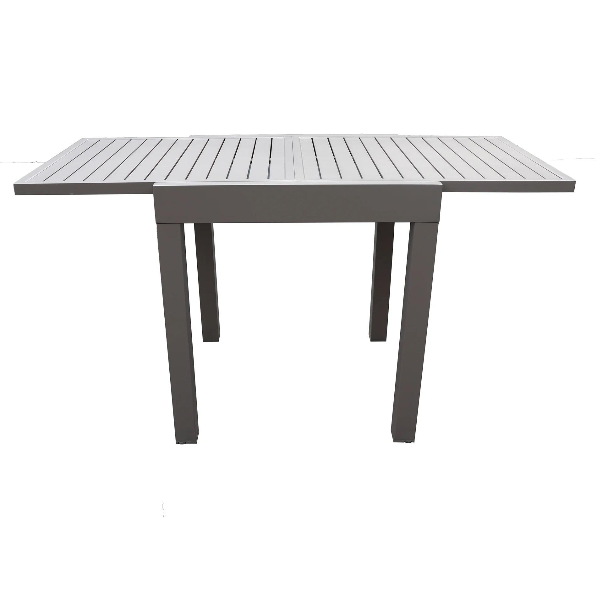 table de jardin de repas varangue majunga rectangulaire taupe de 2 a 4 personnes