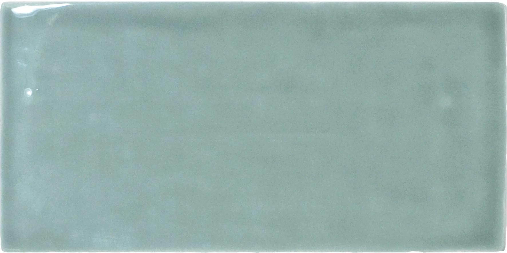 carrelage mur forte uni vert emaille l 7 5 x l 15 cm bakerstreet