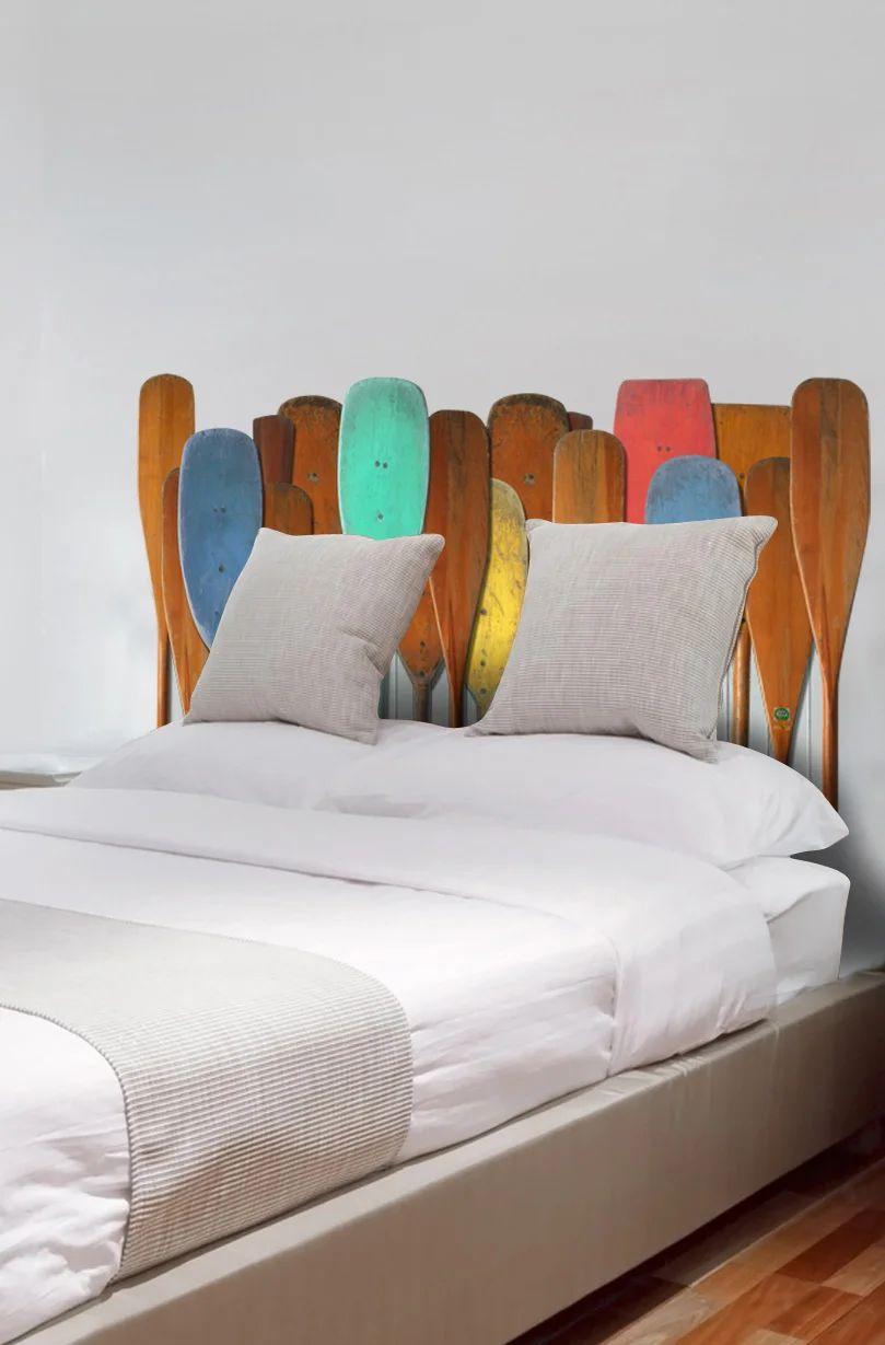 sticker decoratif tete de lit adhesive oxford 60 cm x 160 cm