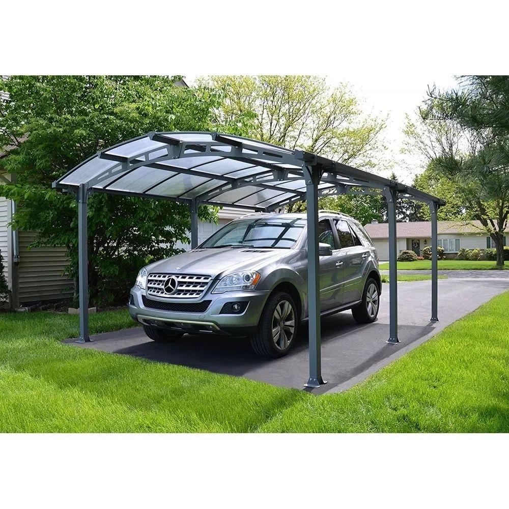 Carport Aluminium Et Polycarbonate Palram Arcadia 5000 1 Voiture 16 31 M Leroy Merlin