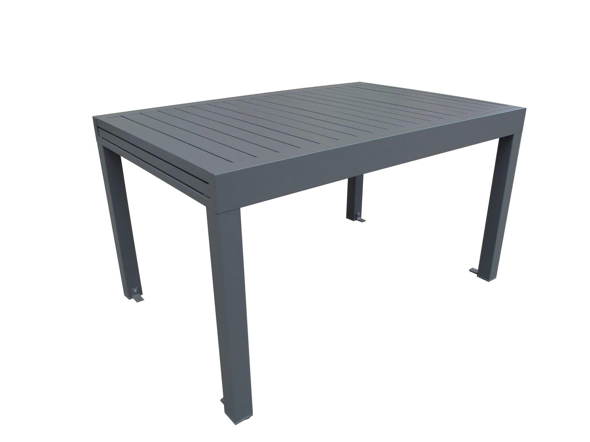 table de jardin de repas lisbone rectangulaire anthracite 8 10 personnes