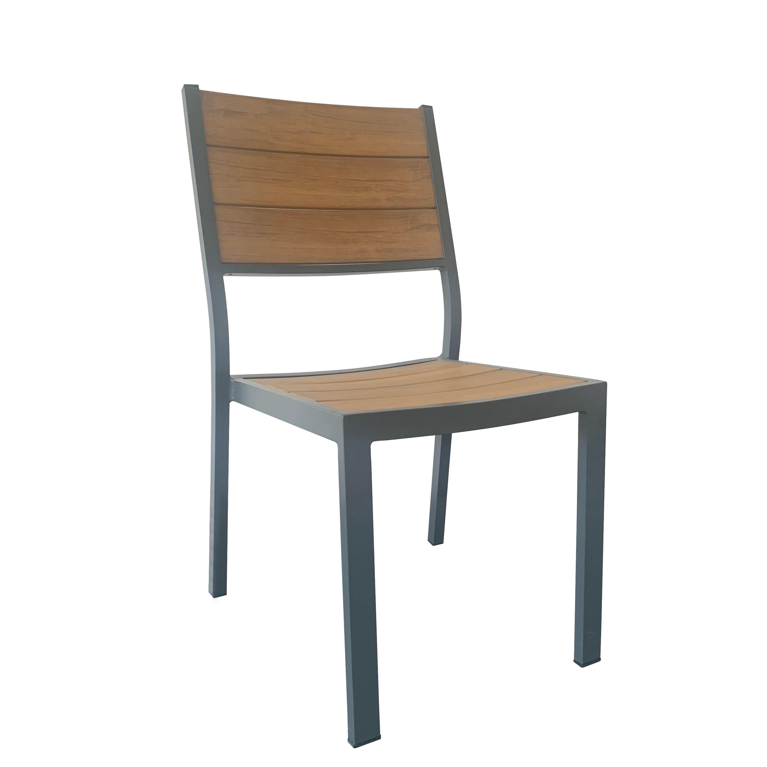 chaise de jardin en aluminium gerona teck clair
