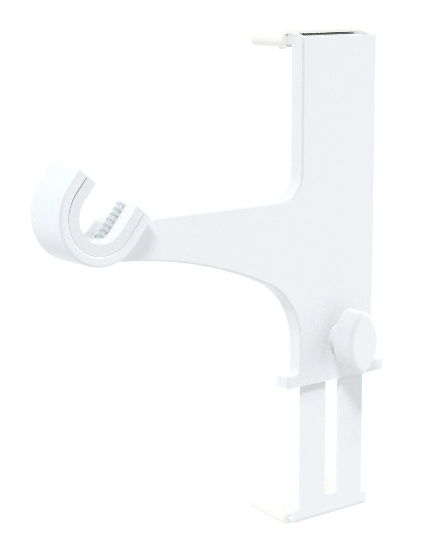 lot de 2 supports sans percage barre a rideau caisson volet 20 28 mm blanc laque