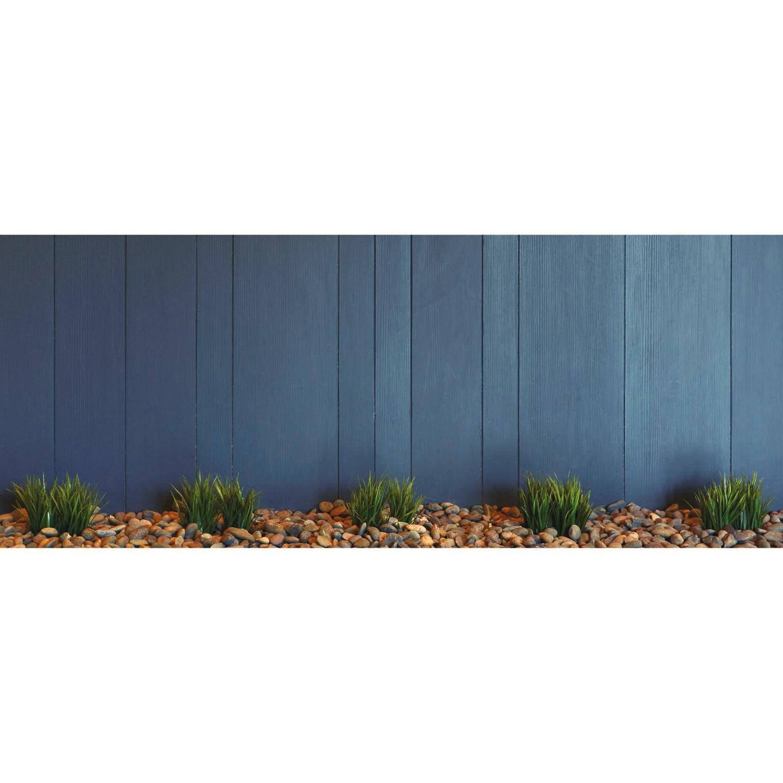 brise vue imprime jardiniere bleue h 1 2 x l 3 m 80 occultant scenolia