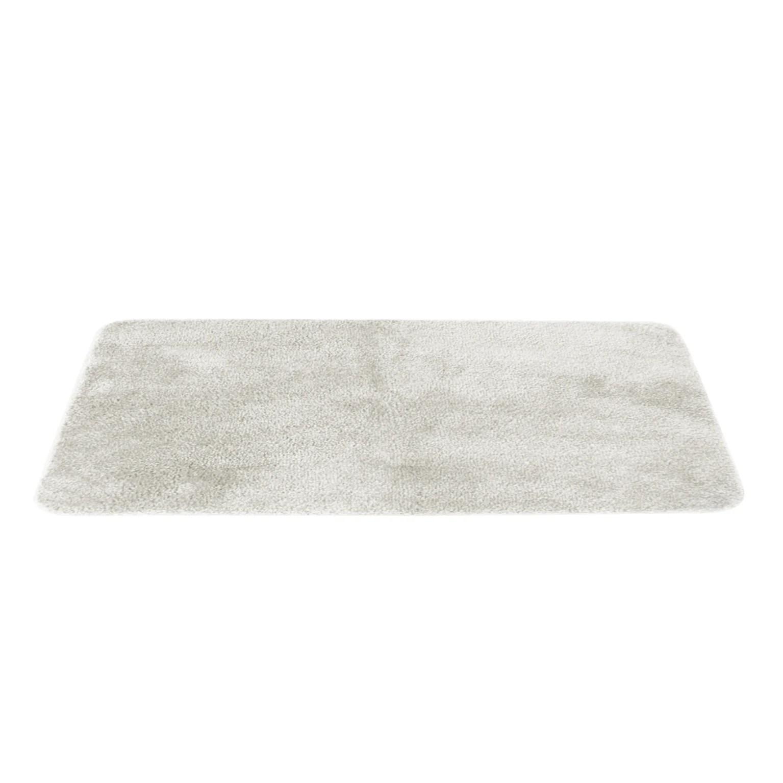 tapis de bain l 50 x l 80 cm blanc casse joy