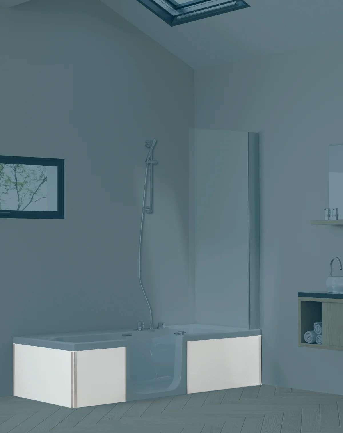 tablier de baignoire lateral et frontal l 75x l 170 cm kinedo sourceo