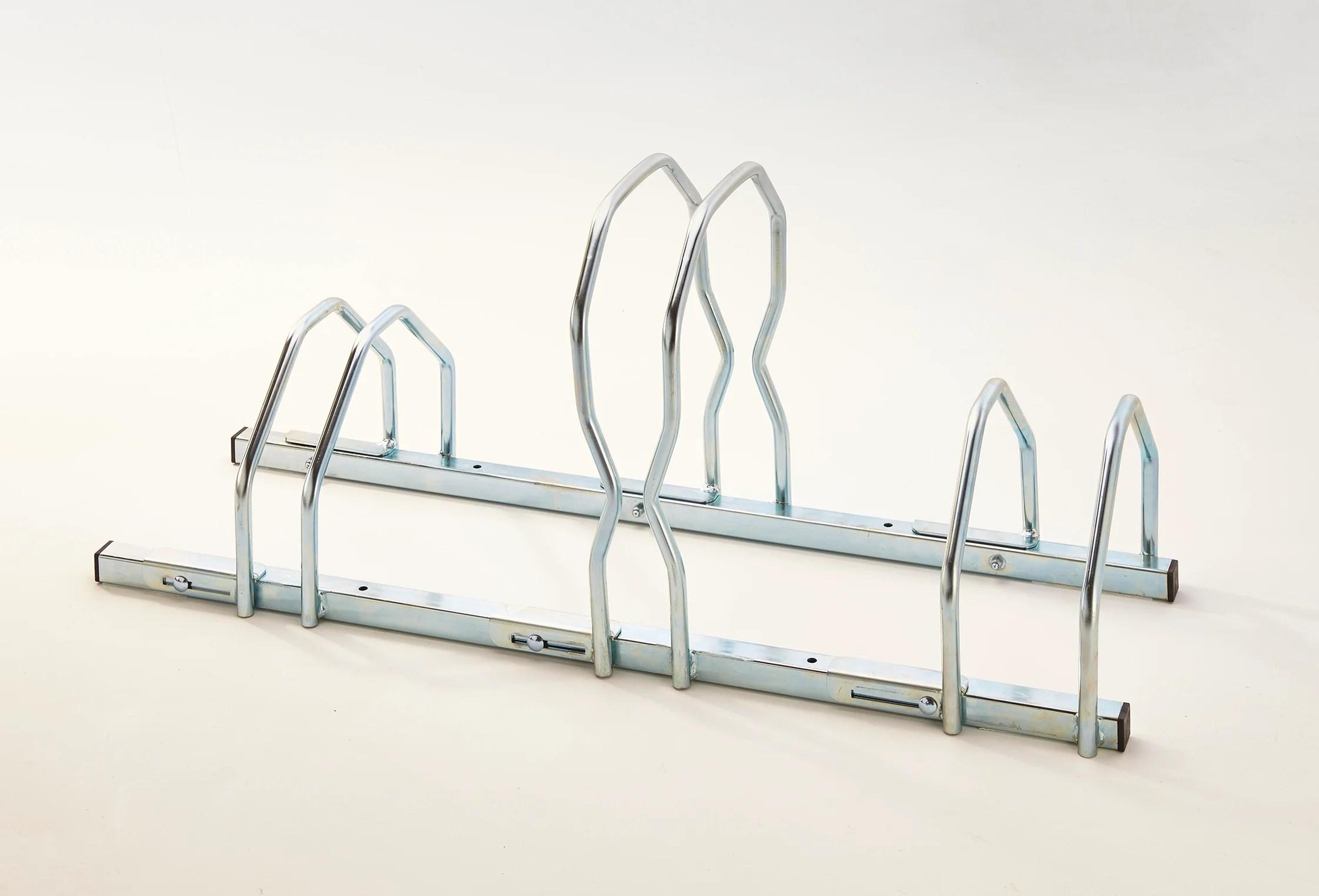 ratelier 3 velo reglable 2 niveaux mottez h 45 x l 39 x p 39 cm leroy merlin