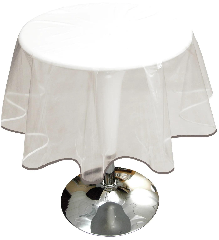 nappe ronde diam 180 cm pvc antitache transparent cristal