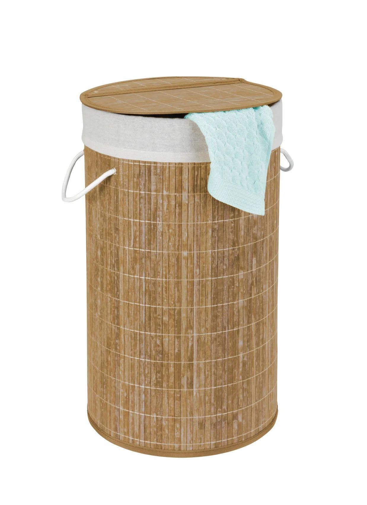 Panier A Linge Bambou Bamboo L 35 X H 60 X P 35 Cm Wenko Leroy Merlin