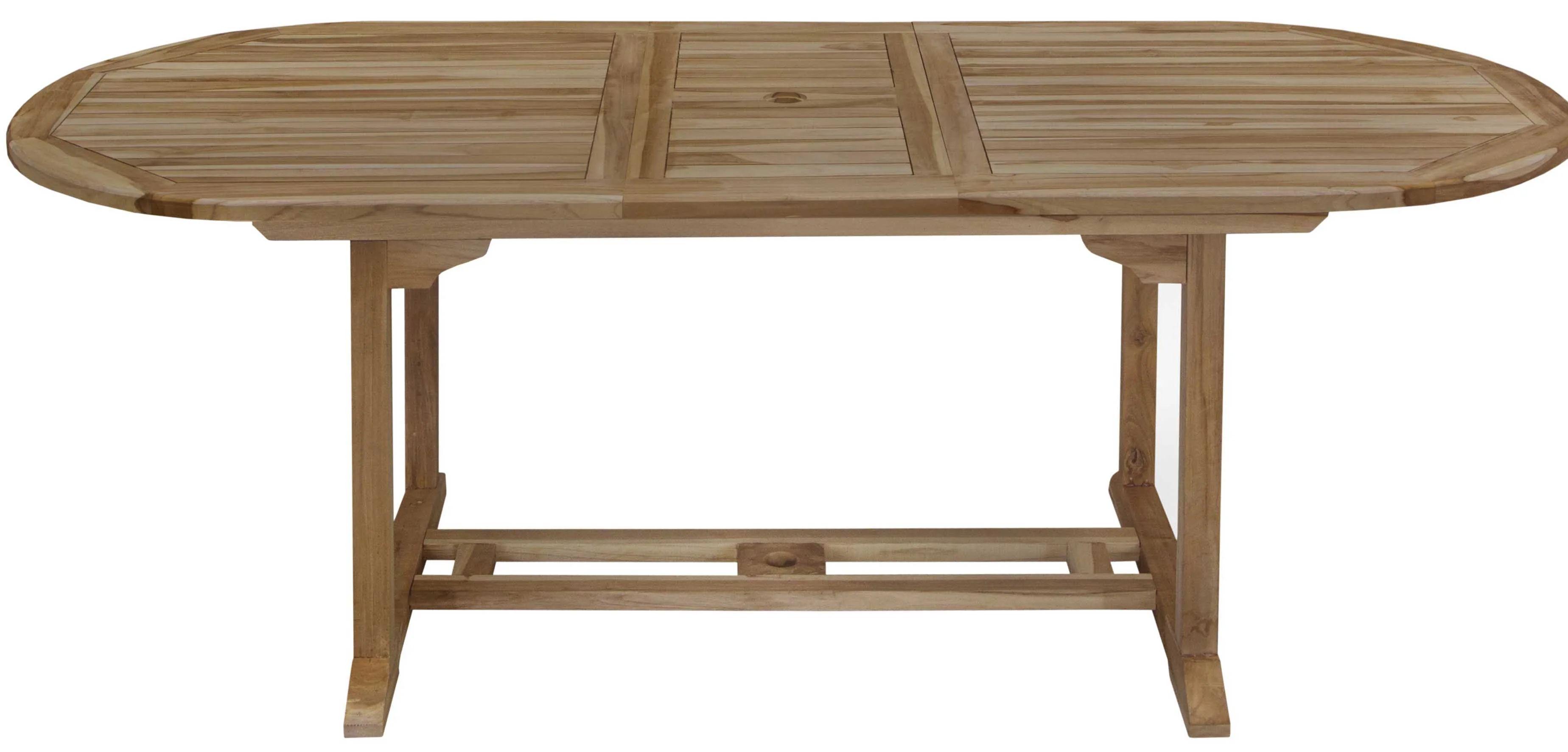 table de jardin teck thani ovale