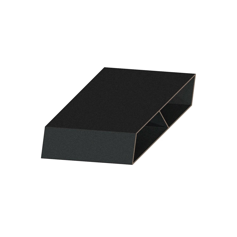 lame de cloture aluminium persienne klos up noir sable h 13 x l 145 cm