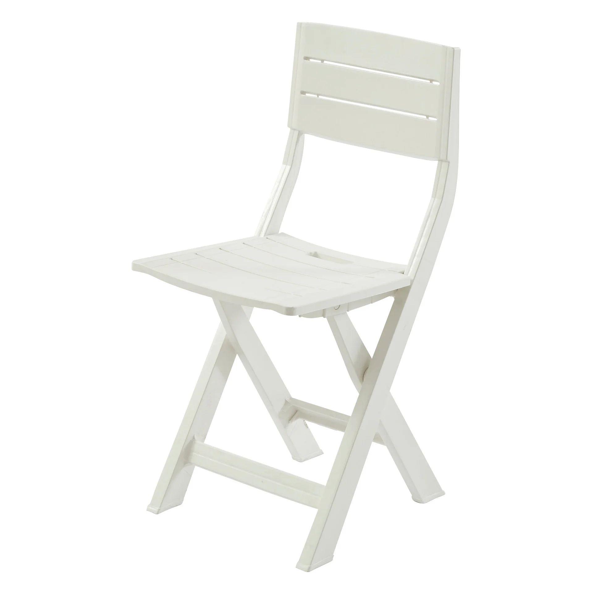 chaise de jardin en resine injectee gilda blanc