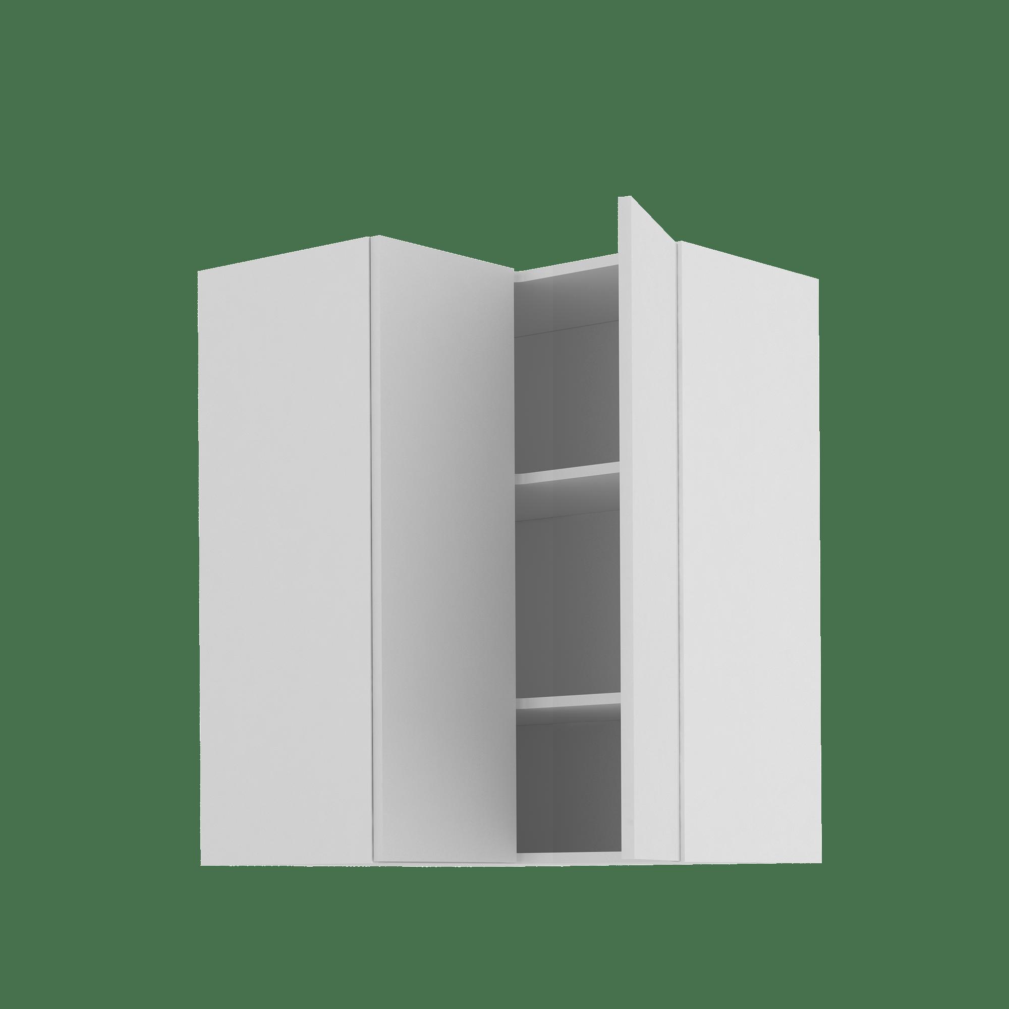 meuble haut d angle de cuisine sofia blanc 2 portes h103xl67