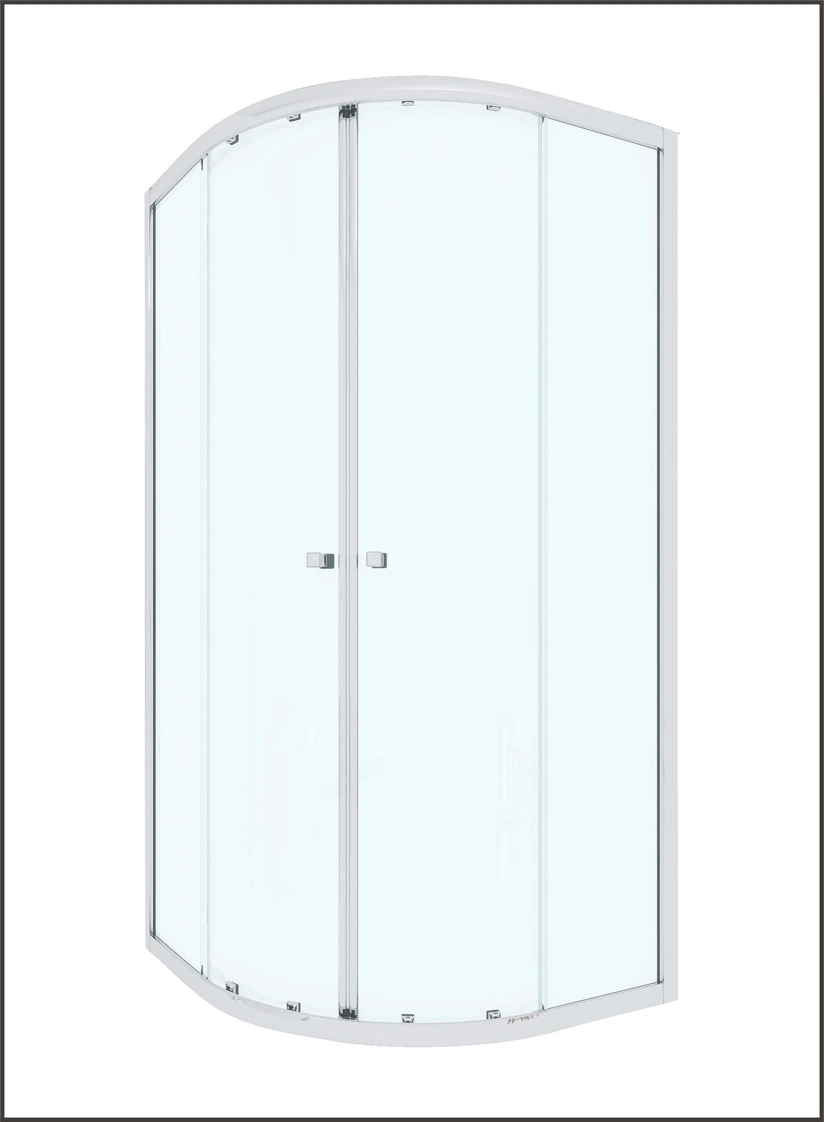 porte de douche coulissante angle 1 4 de cercle 80 x 80 cm transparent dado
