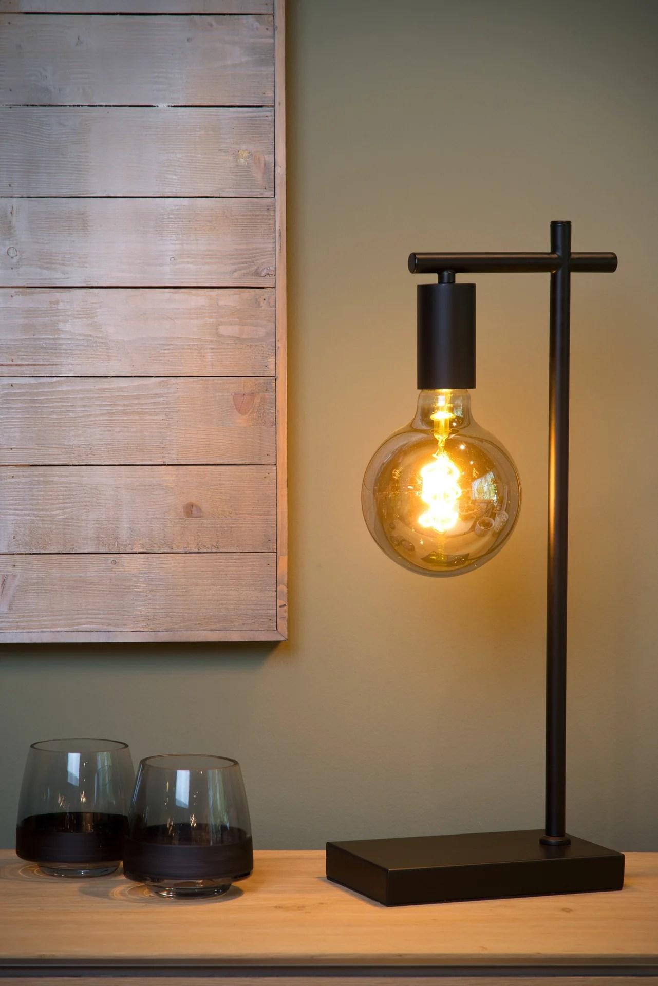 lampe industriel metal noir lucide