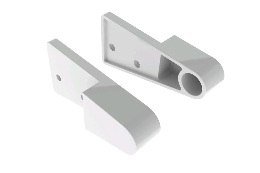 supports et caches d18 mm ronds chromes