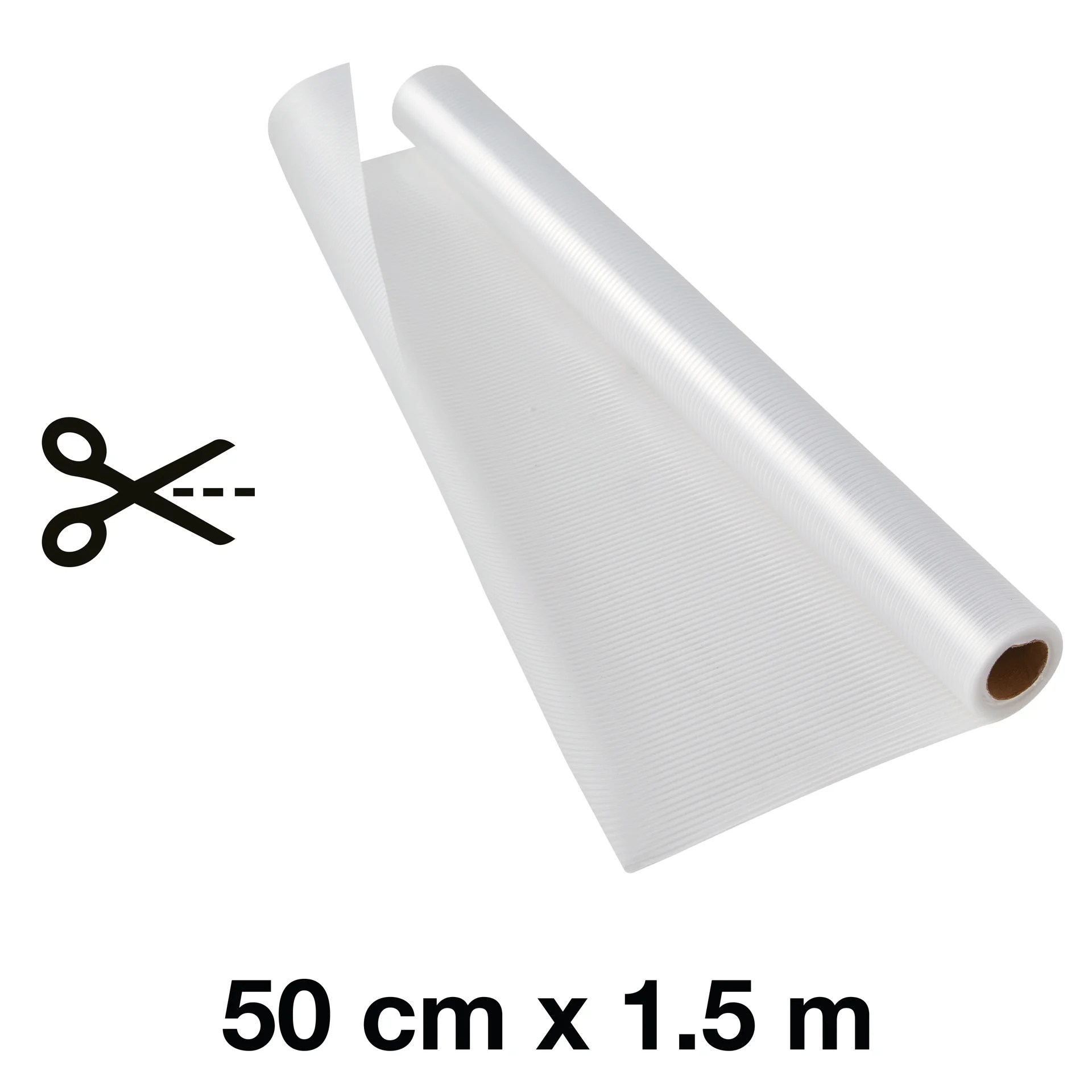 tapis fond de tiroir eva delinia blanc l 50 x p 150 cm