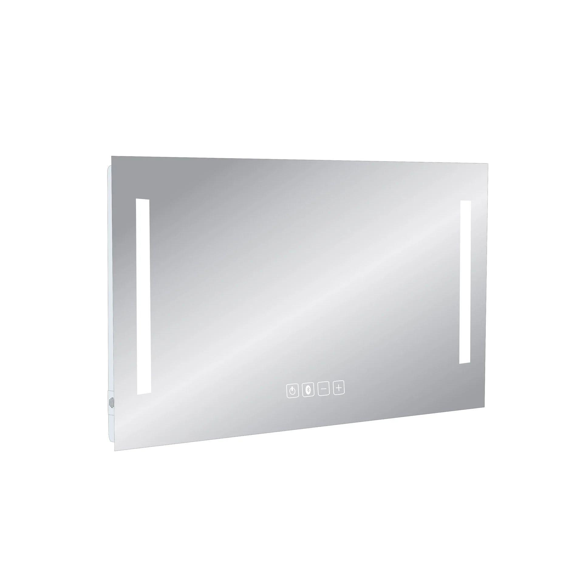 Miroir Lumineux Avec Eclairage Integre L 90 X H 70 Cm Suono2 Leroy Merlin