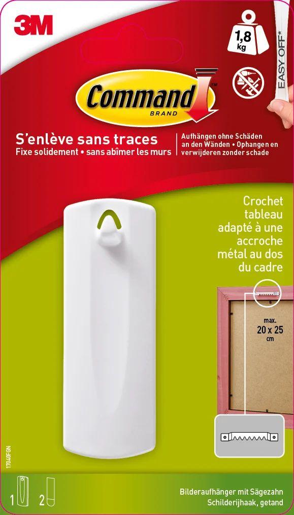 Accroche Cadre Adhesif Command Blanc 1 8 Kg Leroy Merlin