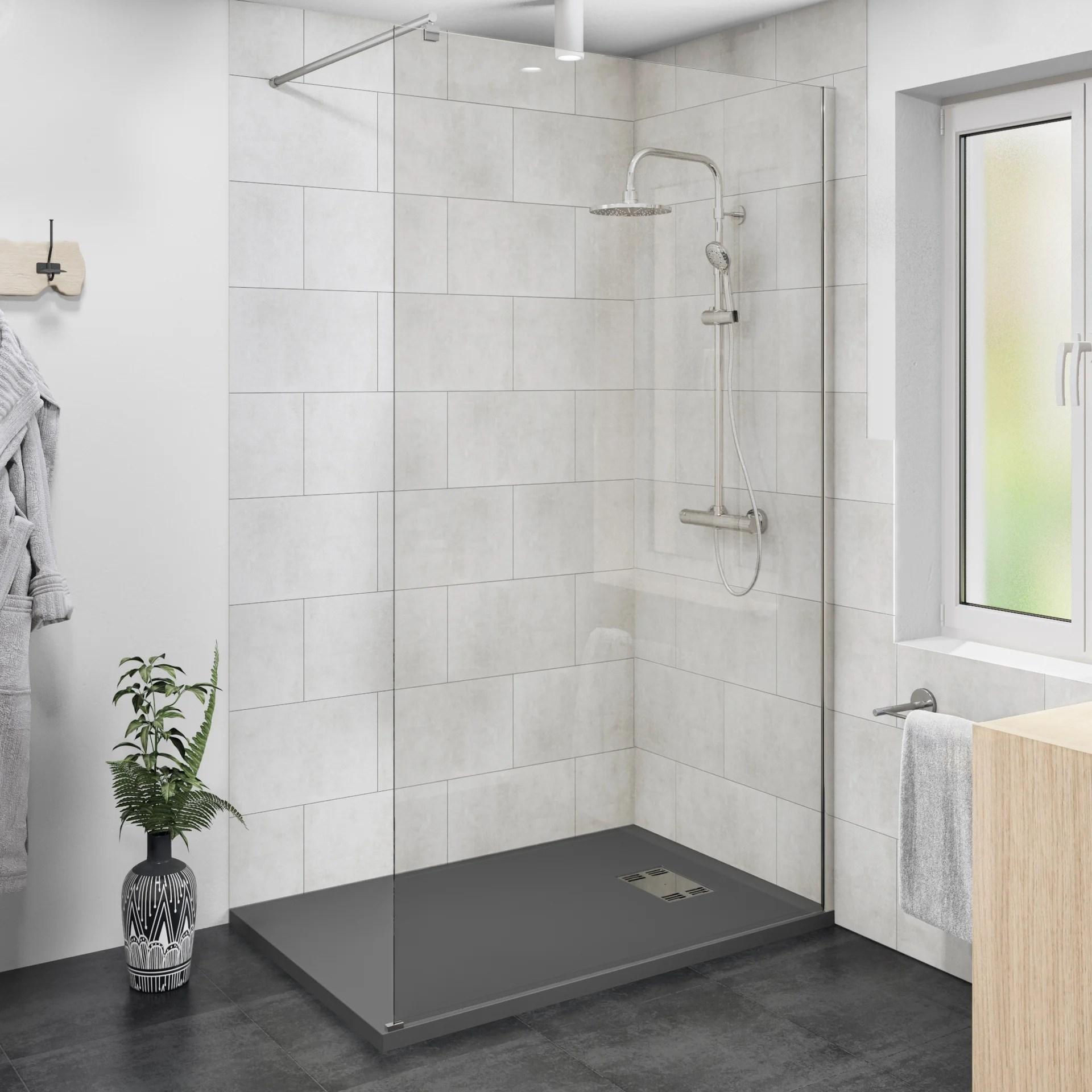 douche a l italienne remix avec receveur easy gris 90x140 cm