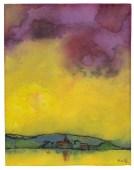 Emil Nolde - Landscape with church (1931) http://www.artnet.com/artists/emil-nolde/