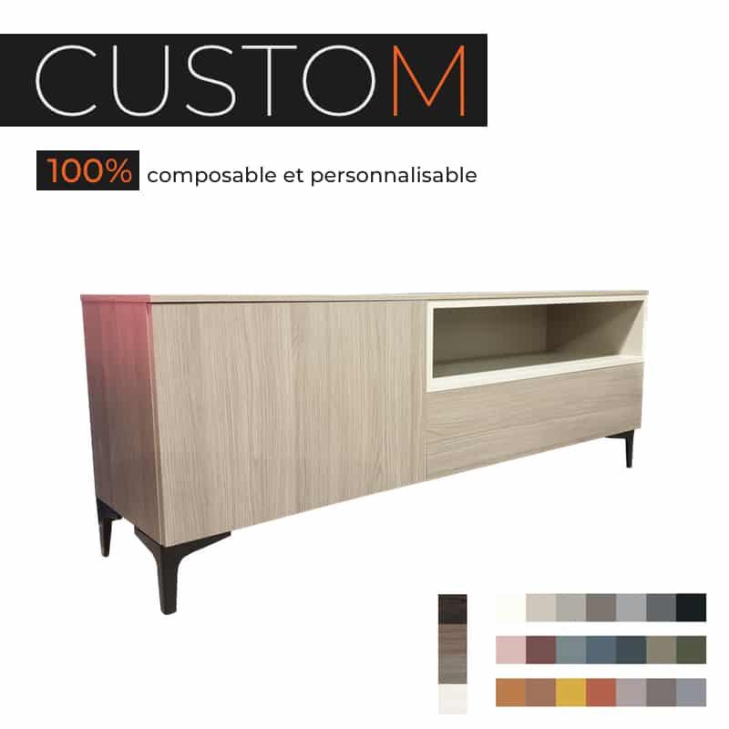 custom meuble tv composable
