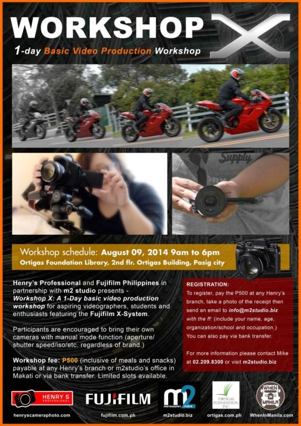 M2 Studio Fuji Video Workshop