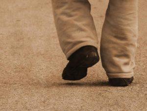 Man walking away, leaving